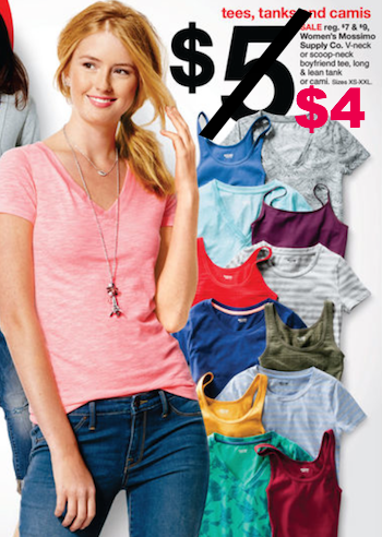 Women's T-Shirts Only $4 at Target this Week
