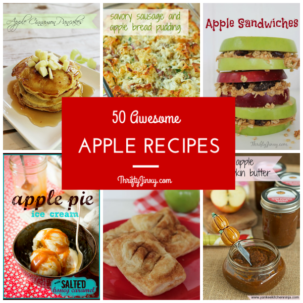 50 Awesome Apple Recipes Collage