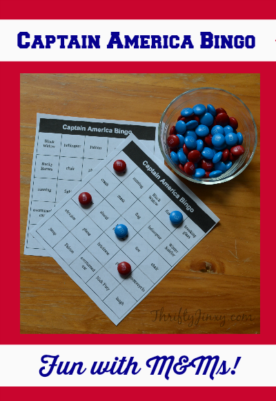 Captain America Bingo Game #HeroesEatMMs #CollectiveBias #shop