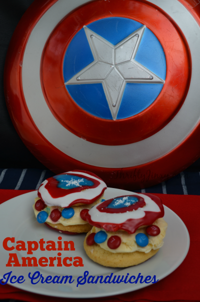 Captain America Ice Cream Sandwiches