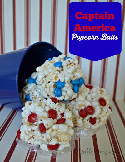 Captain America Popcorn Balls #HeroesEatMMs #CollectiveBias #shop