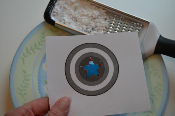 Captain America Powdered Sugar