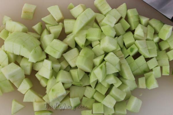 Copycat McDonalds Apple Pies Recipe Chopped Apples