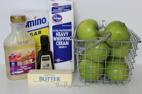 Easy Homemade Caramel Apple Recipe Ingredients