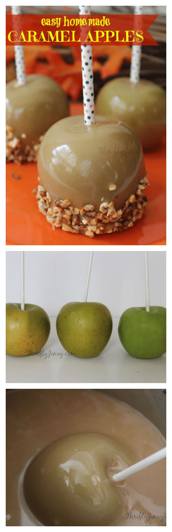 Make delicious fall treats with this Easy Homemade Caramel Apple Recipe that is extra creamy and ready for your favorite toppings like peanuts or sprinkles.