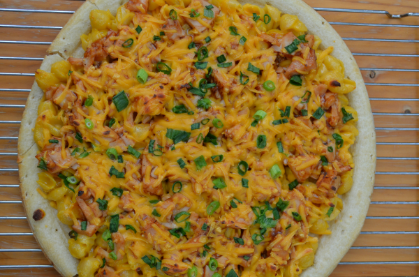 Mac and Cheese Barbecue Chicken Pizza Whole