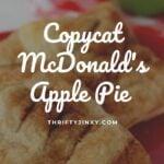 McDonalds Apple Pie Recipe!