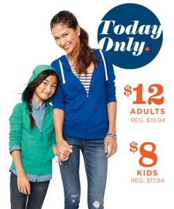 Up to 30% Off Entire Old Navy Purchase + Hoodies Starting at $8!