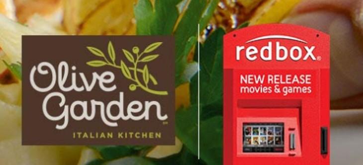 Bogo Olive Garden Entrees Free Redbox Rental Code Thrifty Jinxy