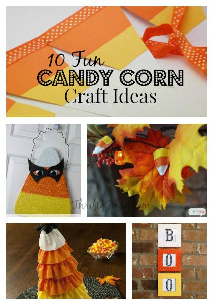 10 Candy Corn Craft Ideas