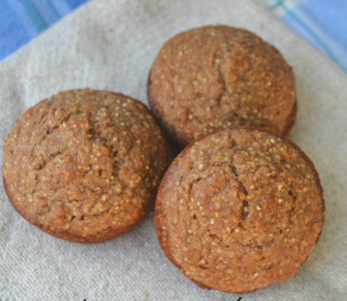 7 Grain Cereal Muffins on Cloth Napkin