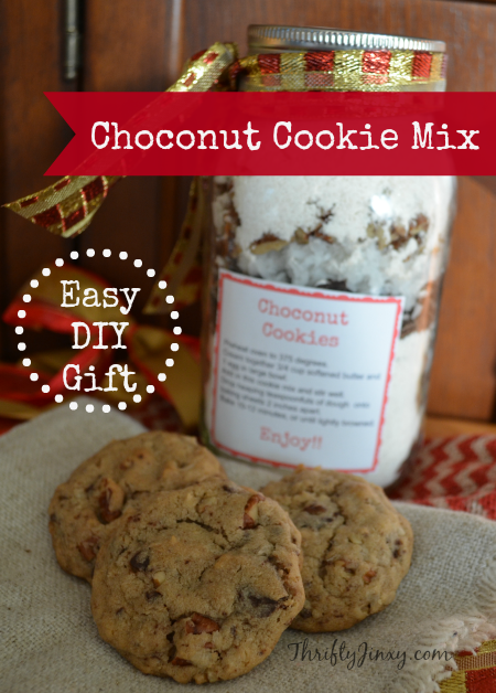 Choconut Cookie Mix in a Jar DIY Gift Idea