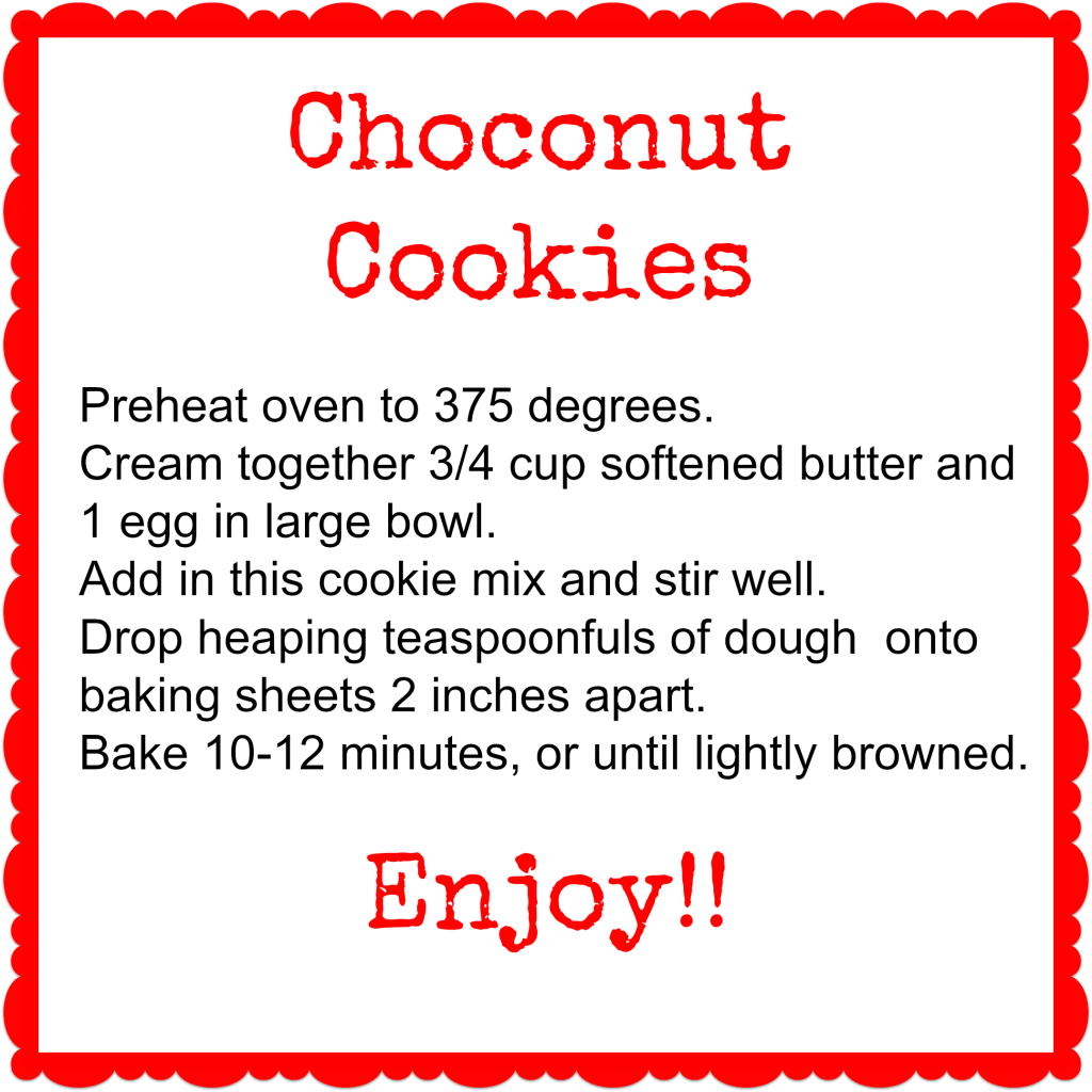 Choconut Cookies Tag