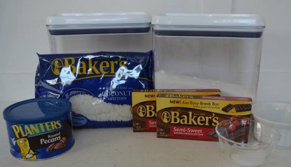 Choconut Cookies in a Jar Ingredients