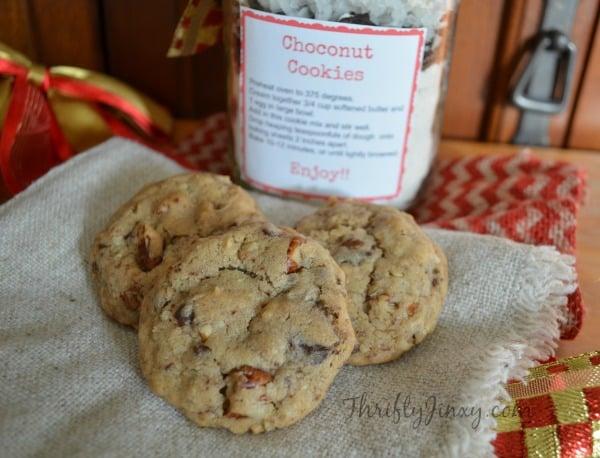 Choconut Cookies in a Jar