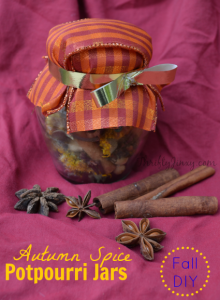 DIY Autumn Spice Potpourri Jars Craft