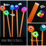 Easy DIY Spooky Monster Pencils Craft