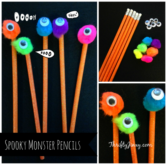 This DIY Spooky Monster Pencils Craft makes the perfect classroom craft or Halloween party favor! They're fun and easy to make with only a few supplies.