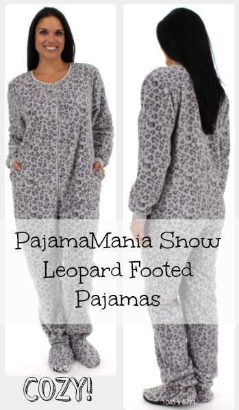 PajamaMania Snow Leopard Footed Pajamas