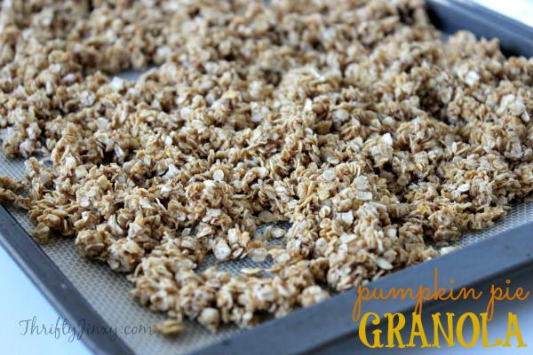 Pumpkin Pie Granola Recipe