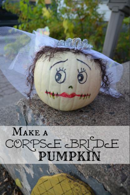 Corpse Bride Pumpkin – Fun Halloween DIY