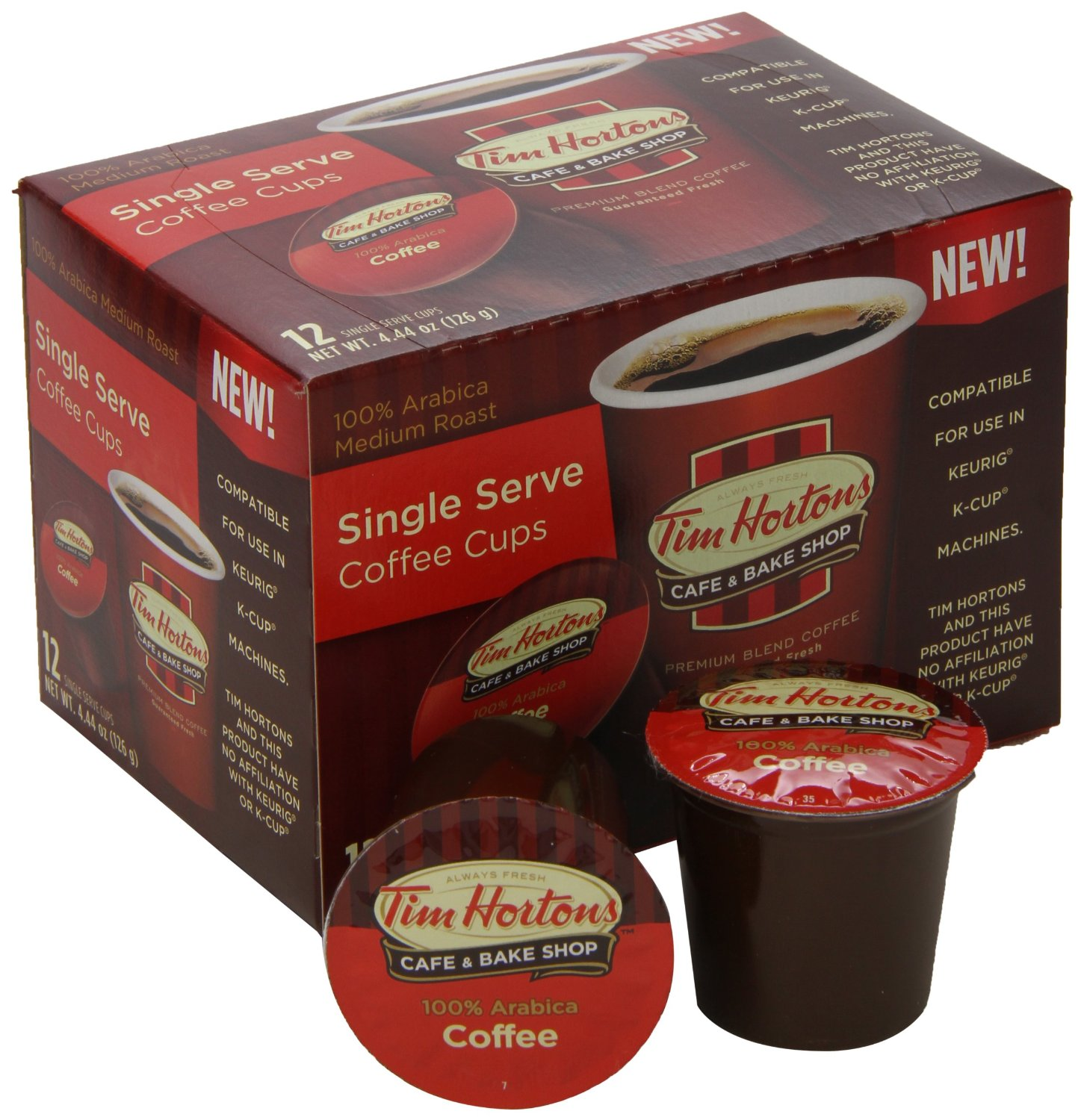 Tim Horton's Coffee K-Cups as Low as $.40 Each on Amazon!