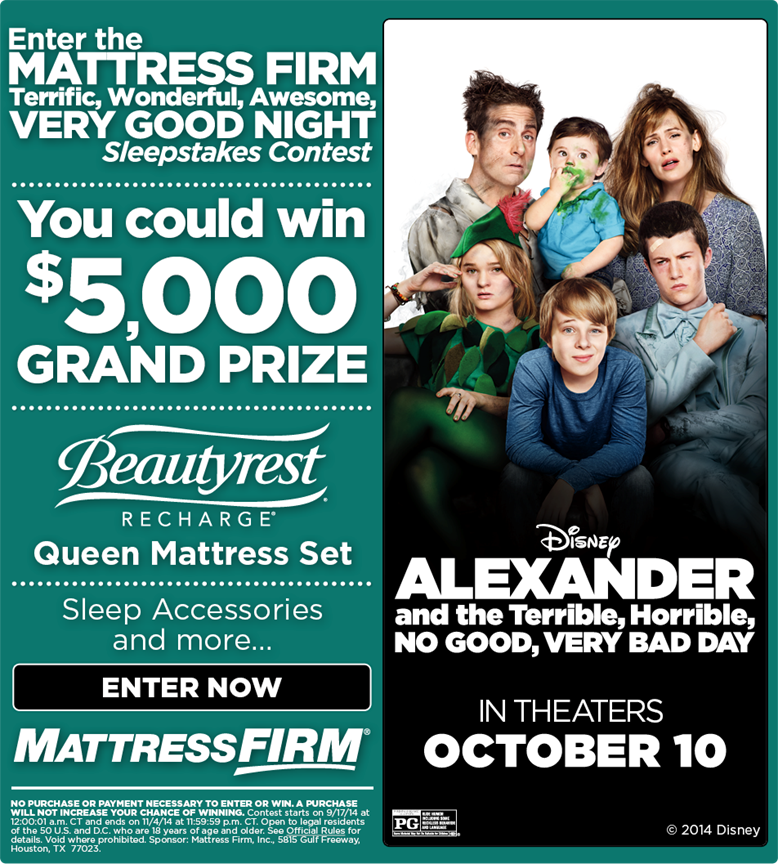 Enter for a Chance to Win $5,000 + More from Mattress Firm #VeryBadDay