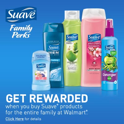Introducing Suave Family Perks! Enter to Win a $50 Walmart Gift Card