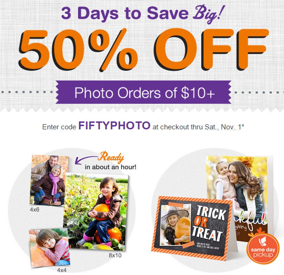50% Off ALL Photo Orders of $10 or More from Walgreens! - Thrifty Jinxy