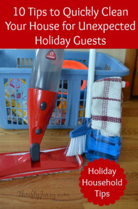 10 Tips to Quickly Clean Your House for Unexpected Holiday Guests with O-Cedar ProMist Spray Mop