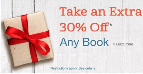 Amazon Book Coupon: Extra 30% Off Any Hardcover or Paperback Book!