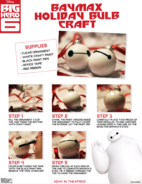 Baymax Holiday Ornament DIY Craft Project