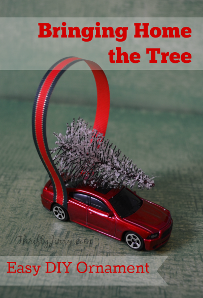 Bringing Home the Tree Car Christmas Ornament DIY Craft - Bringing Home The Tree Car Christmas Ornament DIY Craft - Thrifty Jinxy