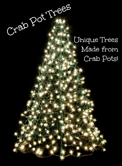 Crab Pot Tree with Lights