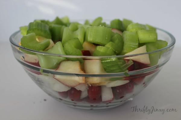 Cranberry Apple Walnut Dressing Fruit Veggies