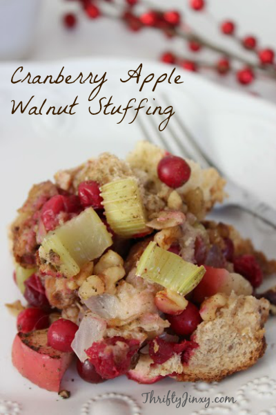 Cranberry Apple Walnut Stuffing Recipe