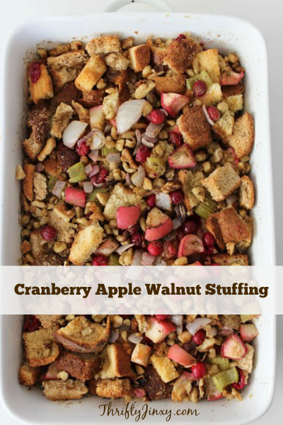 Cranberry Apple Walnut Stuffing or Dressing