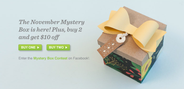 Cricut November Mystery Box – Limited Quantity! $120 Value for Only $29.99