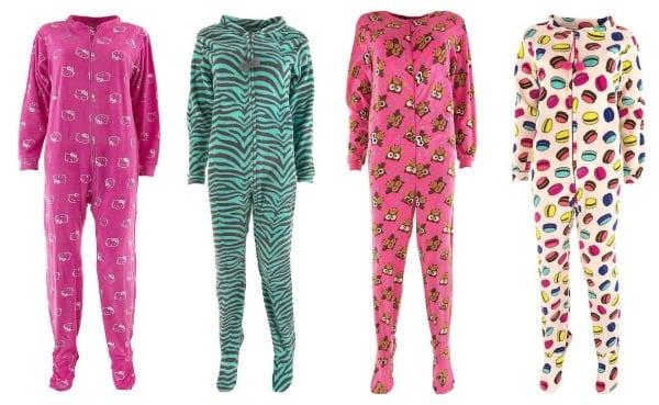 Fun Footed Pajamas for Women