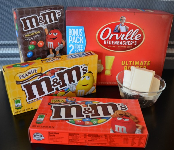 M&M's White Chocolate Popcorn Recipe with Orville Redenbacher's Ingredients