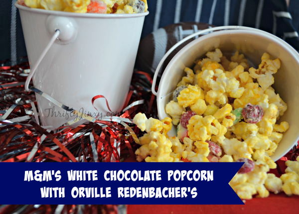 M&M's White Chocolate Popcorn Recipe with Orville Redenbacher's Popcorn