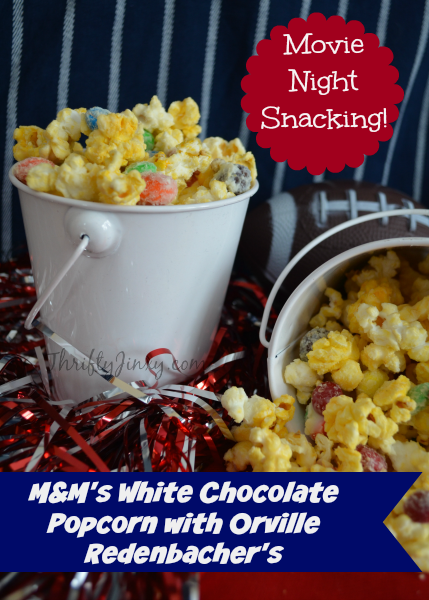 M&M's White Chocolate Popcorn Recipe with Orville Redenbacher's