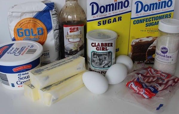 North Pole Sugar Cookie Cupcake Ingredients