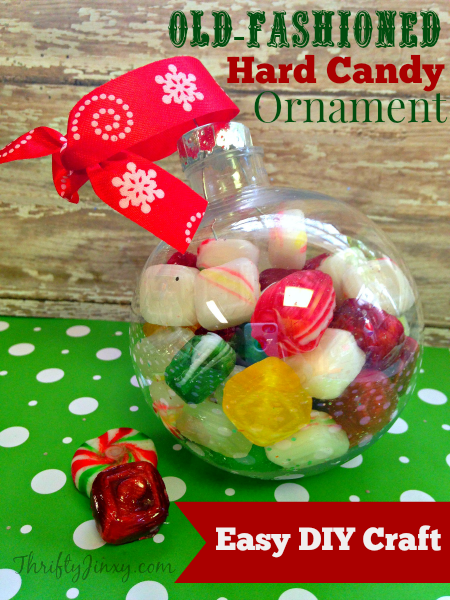Old-Fashioned Hard Candy Holiday Ornament – Easy DIY Craft Project