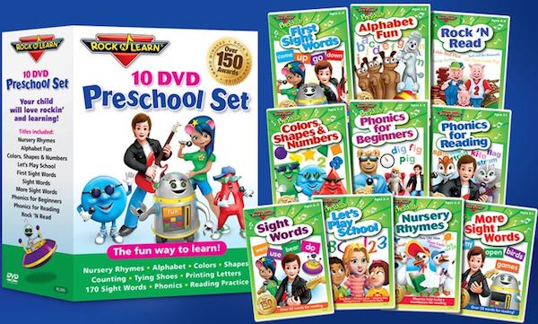 Rock 'N Learn 10-DVD Preschool Pack Now Only $39.99 (Reg. $129.95) + Reader Giveaway