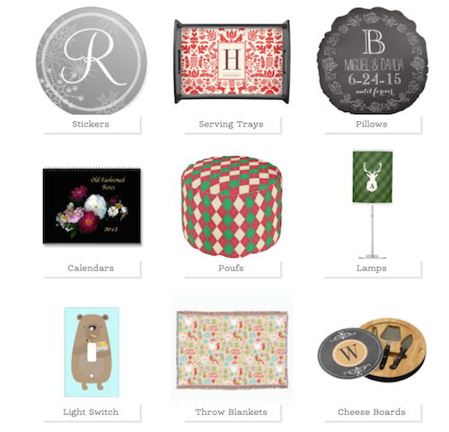 Zazzle Personalized Home Decor
