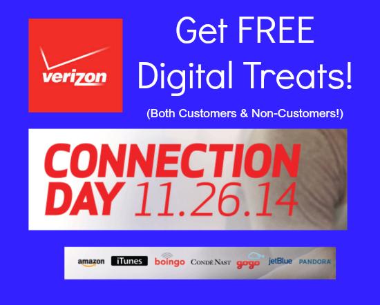 Verizon Wireless Connection Day Freebies