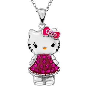 Hello Kitty Swarovski Crystal Necklace only $19!