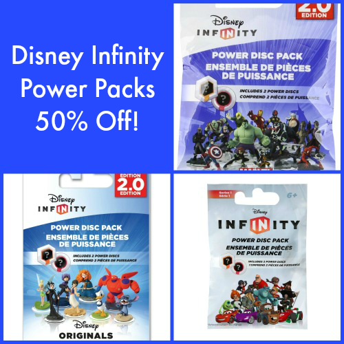 Disney Infinity Power Packs 50% Off!