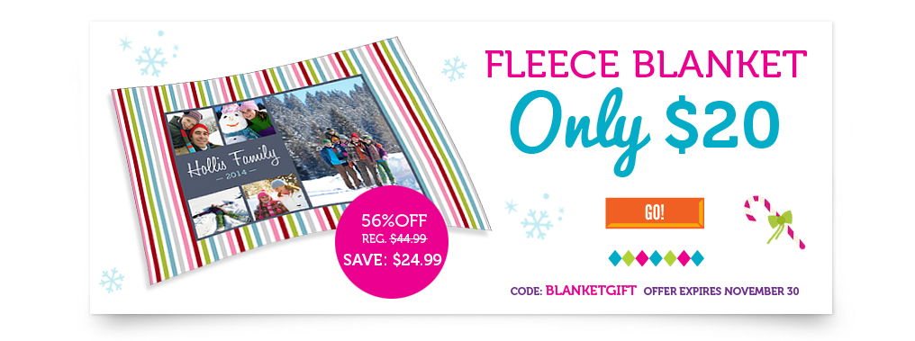 Get Custom Photo Fleece Blankets for Only $26.99 Shipped! (Reg $45)